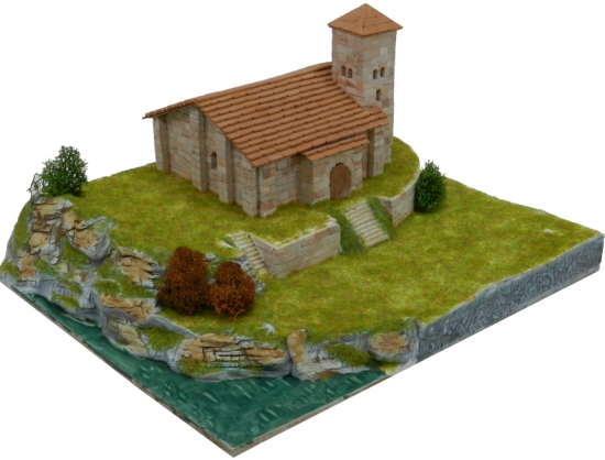Spanish church model building set