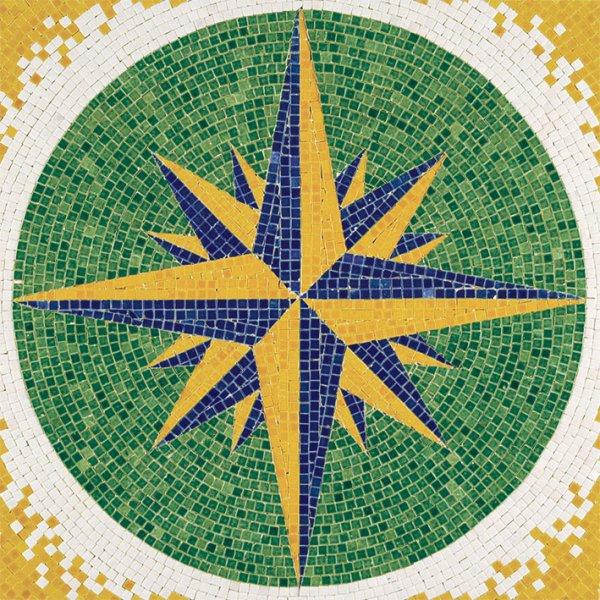 mosaicos en kit con plantilla y teselas esmaltadas