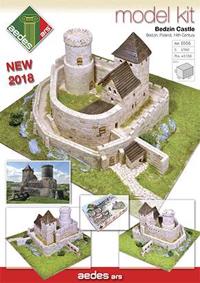 Folleto del Castillo de Bedzin model kit