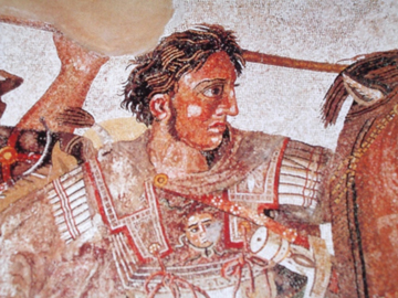 Alexander the great mosaic detail